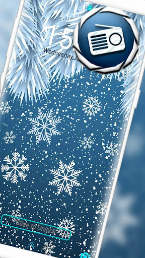 Winter Snowflake Launcher Theme hack tool