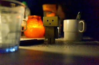 Photo: #Danbo is enjoying the nightlife in #Svaneke