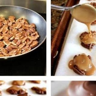 CHOCOLATE PECAN TURTLE CLUSTERS
