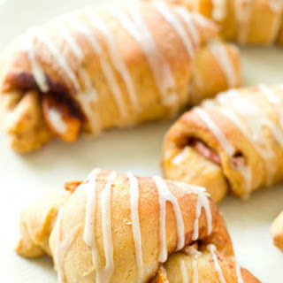 Glazed Apple Pie Crescent Rolls