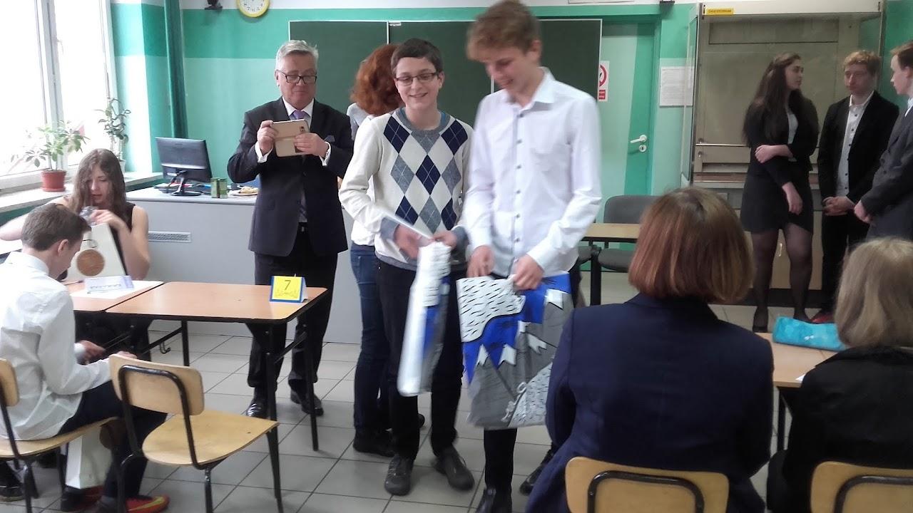 Sukces uczniów gimnazjum w konkursie matematycznym MATMAX