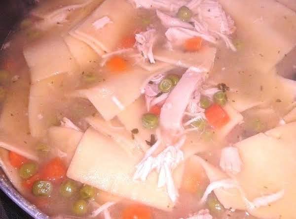 Easy Chicken & Dumpling  Noodle Soup Recipe