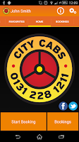 Screenshot of City Cabs Edinburgh