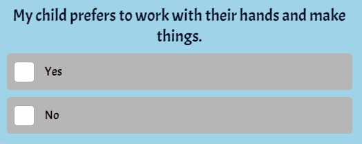 question for learning style quiz