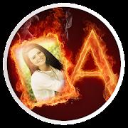 Fire Alphabet Photo Frame