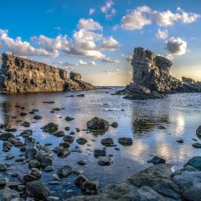 Sea morning by Venelin Dimitrov - Landscapes Waterscapes ( sky, sea, stone, seascape, rocks,  )
