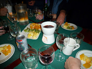 Photo: ...after all, onboard we get treated to the finer things in life.  Like chocolate fondue!  Photo by Ben.