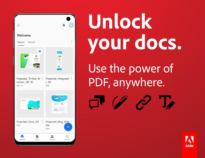 Adobe Acrobat Reader: PDF Viewer, Editor & Creator Android App Screenshot