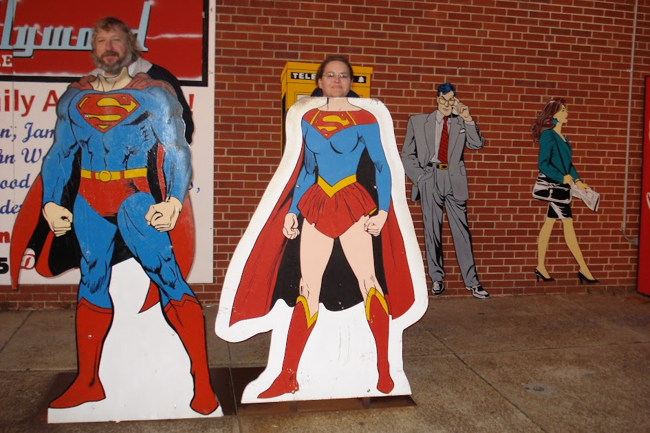 Near the Superman Museum in Metropolis, Illinois