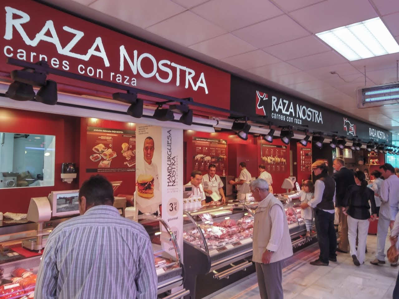 A vendor called Raza Nostra selling all kinds fo meats