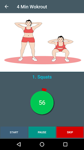 4 Min Workout - Tabata HIIT for PC