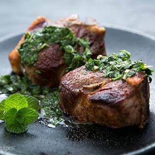 Lamb Loin Chops with Mint Chimichurri.