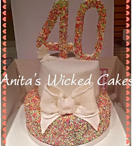 40th sprinkles female cake