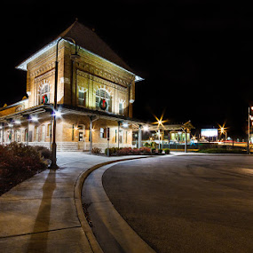 Christmas Time at the Train Station by Greg Booher - Buildings & Architecture Public & Historical