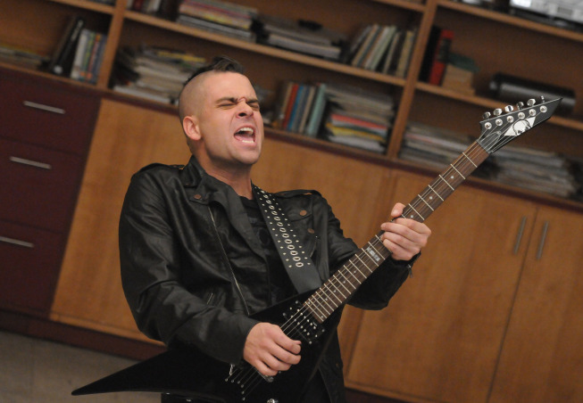 """Photo: GLEE: Puck (Mark Salling) performs in the """"Choke"""" episode of GLEE airing Tuesday, May 1 (8:00-9:00 PM ET/PT) on FOX. ©2012 Fox Broadcasting Co. Cr: Mike Yarish/FOX"""