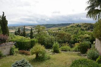 Photo: Nádherný výhled z naší zahrady na okolní krajinu.