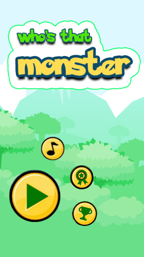 Game: who's that monster