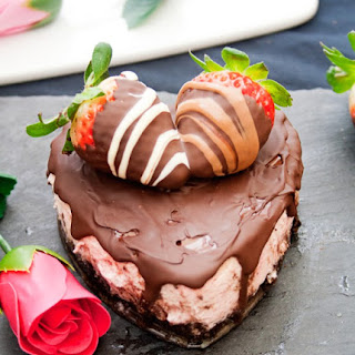 Chocolate Covered Strawberry Cheesecake for Two