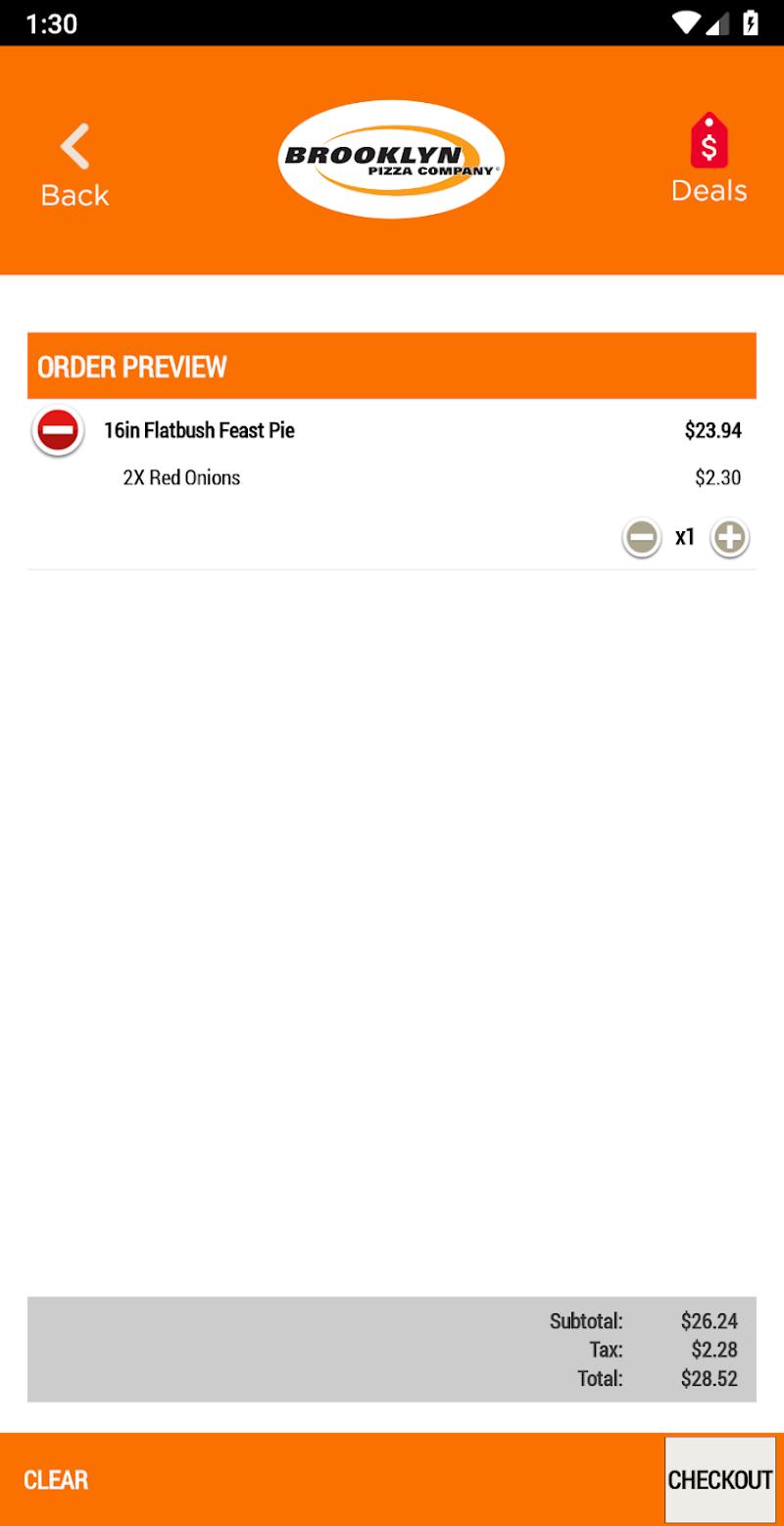 Скриншот Brooklyn Pizza Company
