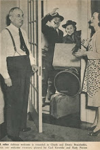 Photo: Chuck and Dottie Brainfeeble arrive and are greeted by Vic and Sade