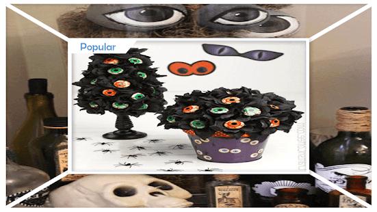 Unique Styrofoam Halloween Eyeball Bouquet - náhled
