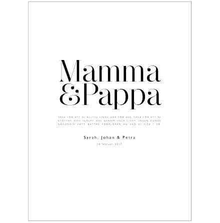 TILL MAMMA & PAPPA
