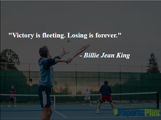 Victory is fleeting. Losing is forever.