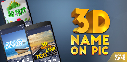 3D Name on Pics - 3D Text APK