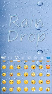 Rain Drop Keyboard Theme - náhled