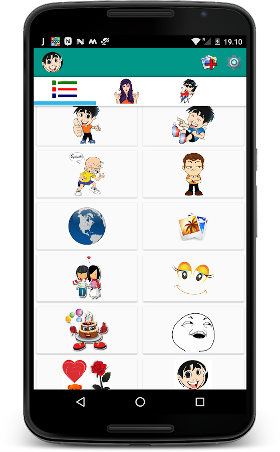 Screenshots of Stickers For Whatsapp for iPhone