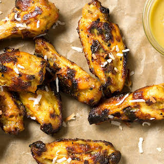 Coconut, Key Lime & Curry Baked Chicken Wings.