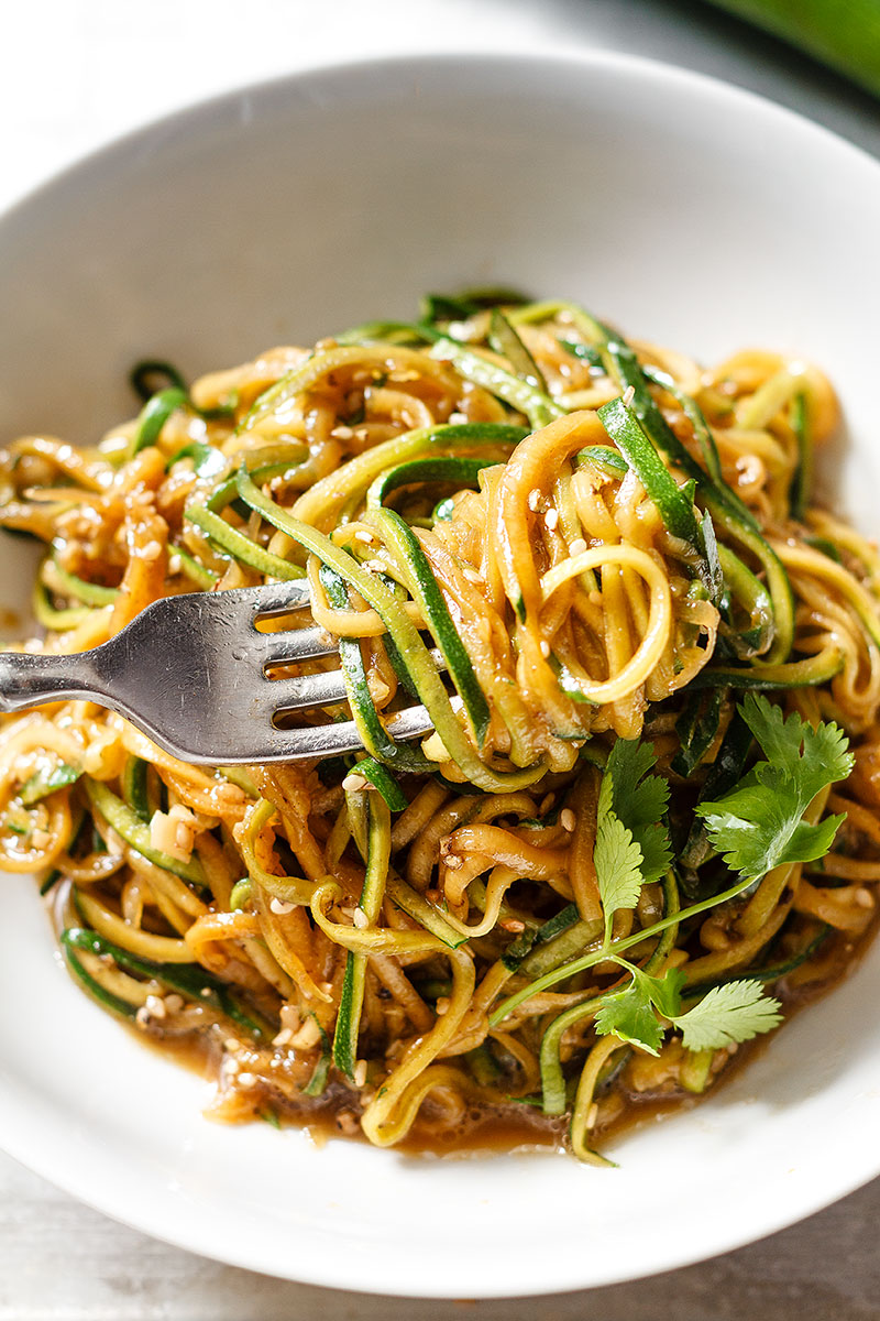 Teriyaki Zucchini Noodles Recipe | Yummly