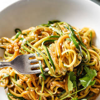 Teriyaki Zucchini Noodles.