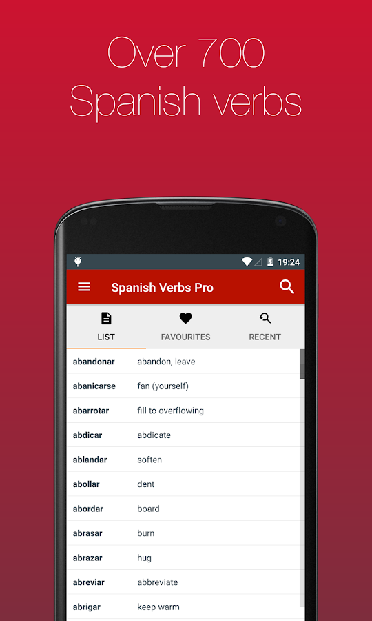 Spanish Verb Conjugator- screenshot