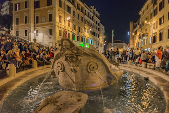 "Photo: The fountain ""Barcaccia"" in Piazza Spagna, Rome, Italy"