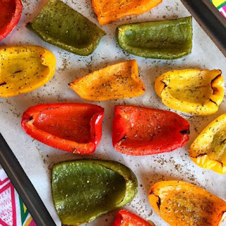 Oven Roasted Bell Peppers.