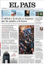 Photo: En portada de EL PAÍS del domingo 30 de septiembre: El déficit y la deuda se disparan por las ayudas a la banca; Tercera protesta masiva frente al Parlamento español; La historia Juan el albañil, un héroe caído en una riada de Murcia por intentar salvar a una niña de nueve años. http://srv00.epimg.net/pdf/elpais/1aPagina/2012/09/ep-20120930.pdf