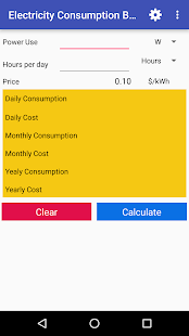 Electric Cost Bill Calculator - náhled