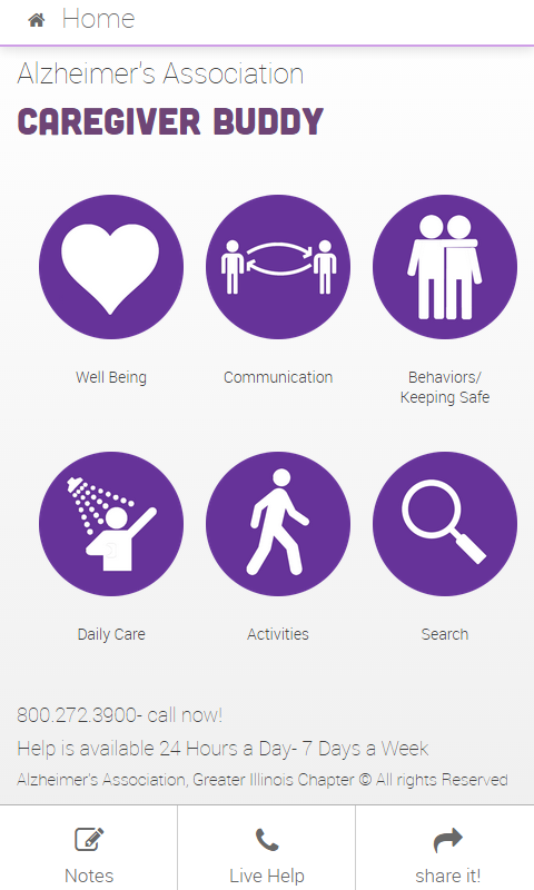 Alzheimer's Caregiver Buddy- screenshot