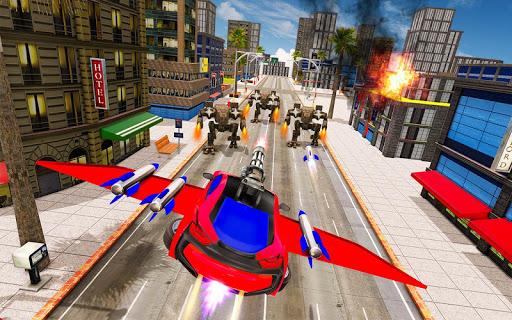 Flying Car Robot Transformation Game