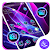 Blue Purple Neon APUS Launcher Theme