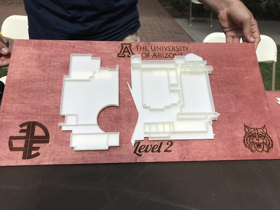 A 3D Printed Floorplan of the University of Arizona Student Union
