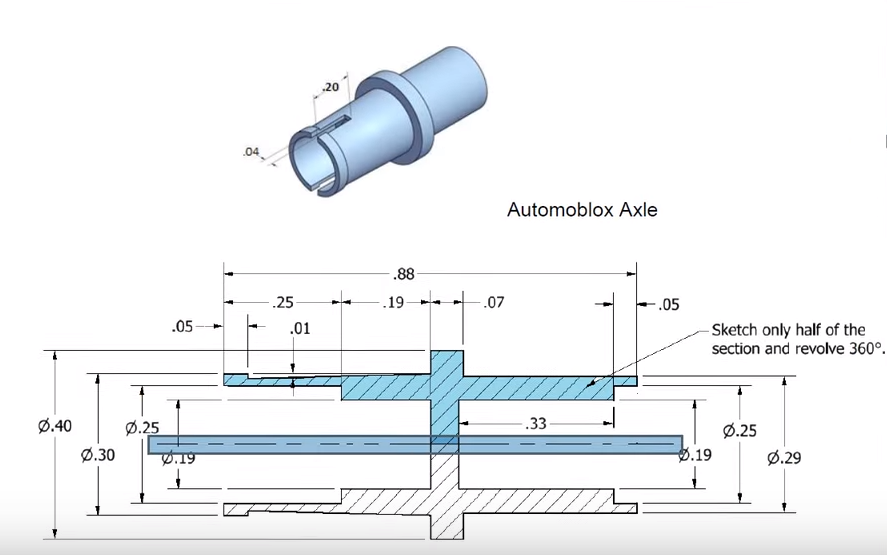 Project 2 P5: Automoblox Axle Instructions - IEDMRQ
