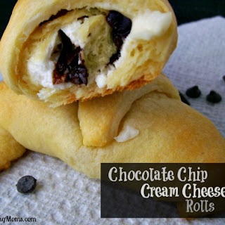Chocolate Chip Cream Cheese Rolls