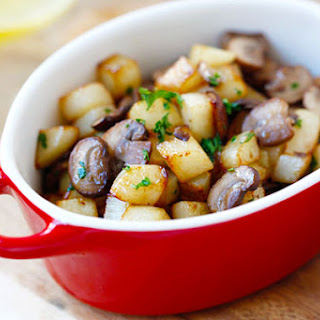 Butter Sauteed Potato and Mushroom.