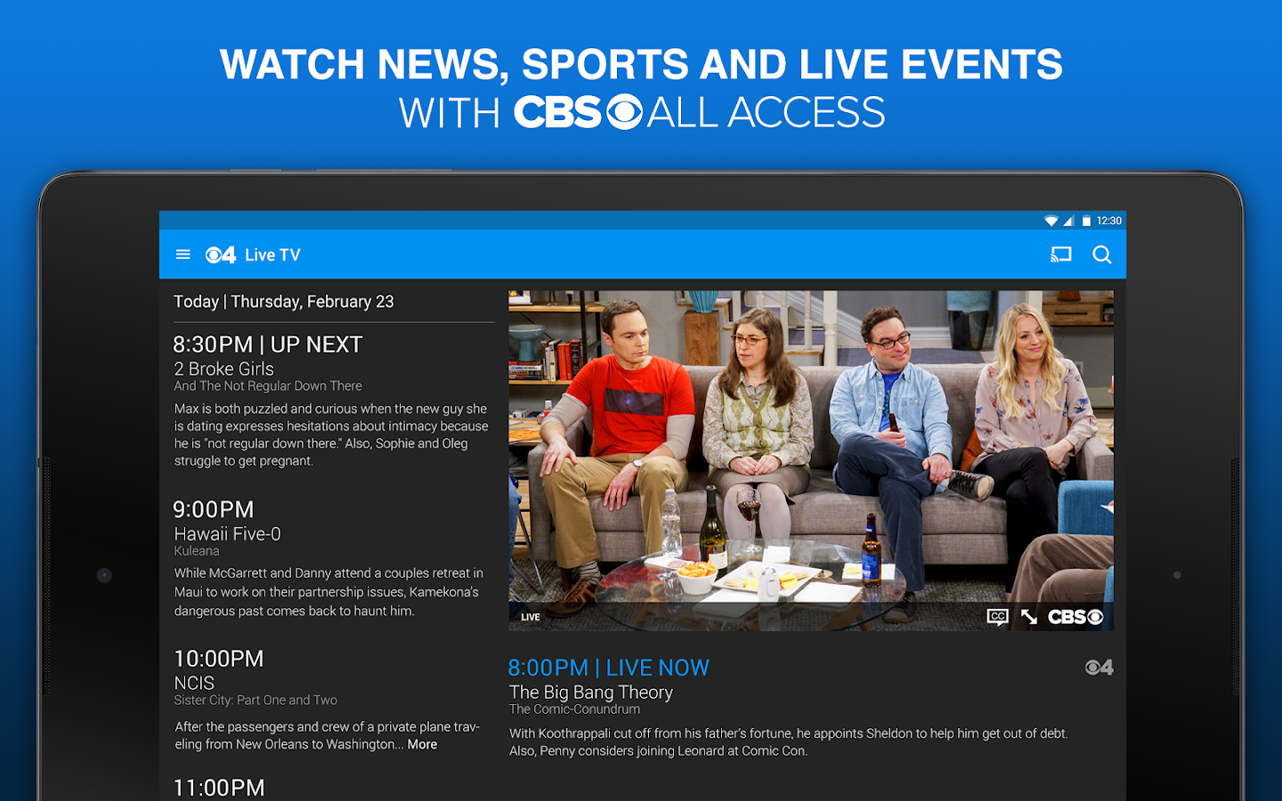CBS Full Episodes and Live TV- screenshot