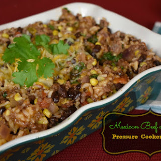 Mexican Beef and Rice {Pressure Cooker/Instant Pot Recipe}.