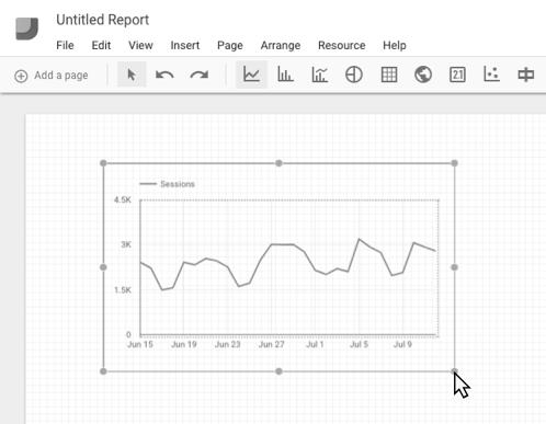 Google Data Studio report editor