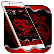 Red machinery Technology Theme APK