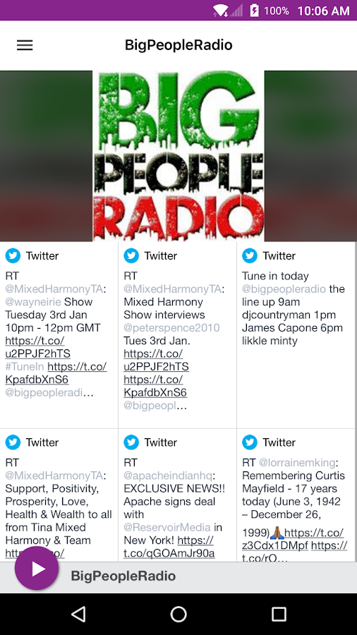 BigPeopleRadio- screenshot